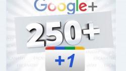 Sizin için Google+ Ağının +1 Etkileşim Butonuna 250 Tane +1 Etkileşim Desteği